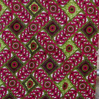 Tissu wax coquelicot rouge - Karabashop