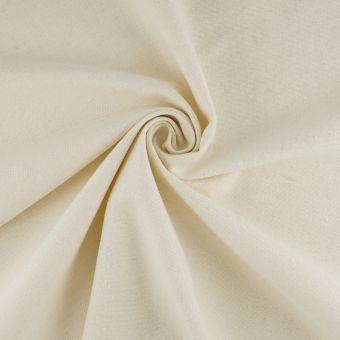 Tissu demi natté écru coton recyclé