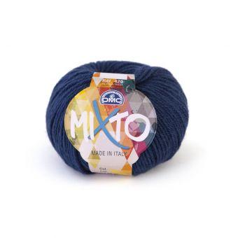 Pelote de fil à tricoter DMC Mixto bleu