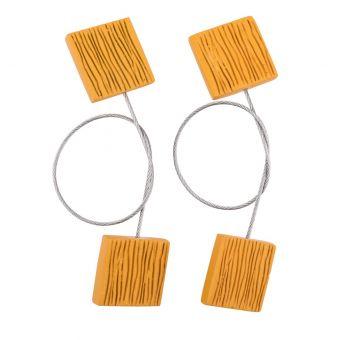 Lot de 2 magnets Picolo jaune moutarde