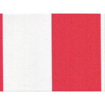 Tissu Polyskin outdoor anti-uv traitement Teflon rayé rouge blanc