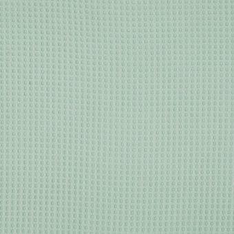 Tissu éponge nid d'abeille vert pastel