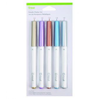 Cricut Explore / Maker 5 stylos métalliques cuivre -or - argent - bleu - violet 1.0mm