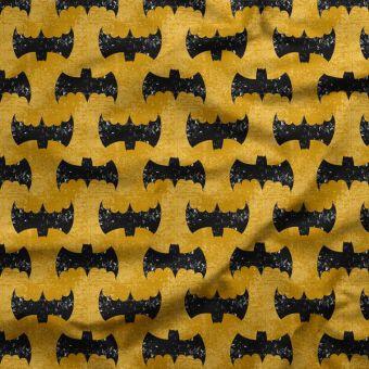 Tissu oxford pour chemise imperméable et recyclé bat jaune - La Panda Love Fabrics