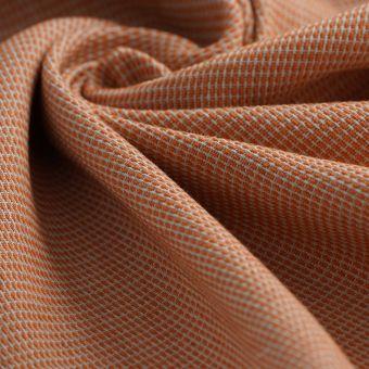 Tissu double natté lainage abricot