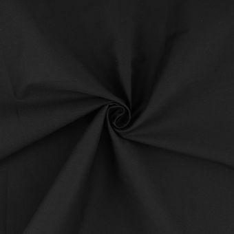 Tissu popeline coton lourde 120 fils noir