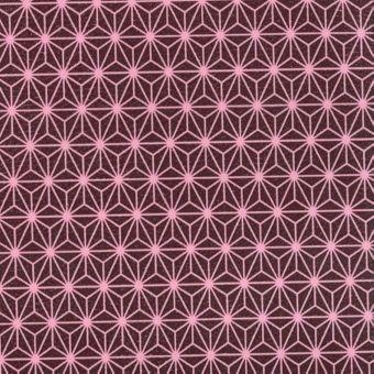 Simili cuir burgundy motif etoiles