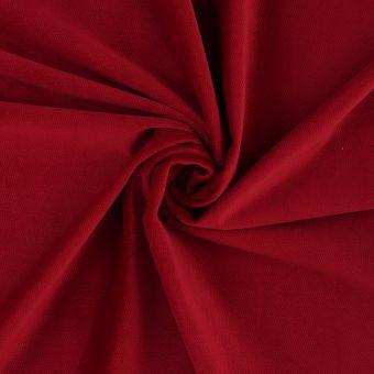 Tissu velours Decker rouge