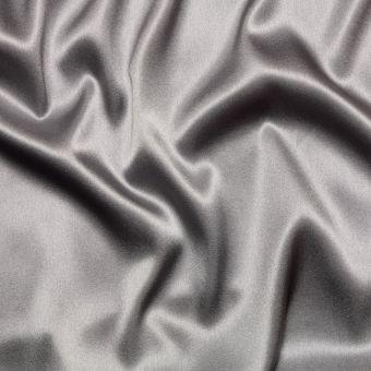 Tissu satin de soie gris souris uni fait en Italie