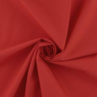 Tissu popeline coton unie rouge