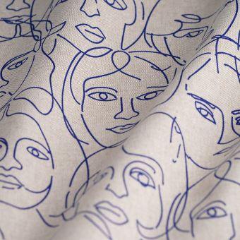 Tissu coton épais visages