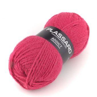 Pelote de fil à tricoter addict fuchsia - Plassard