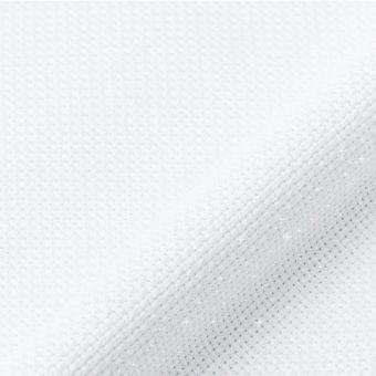 Toile aïda métallisée 5,5points/cm blanche au mètre