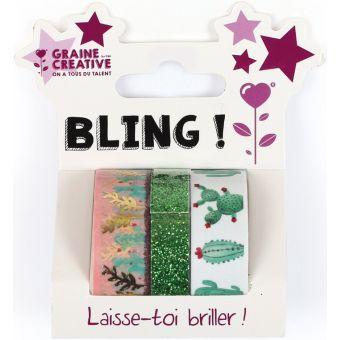 3 masking tape glitter & cactus 2 x 5m + 1 x 2 m