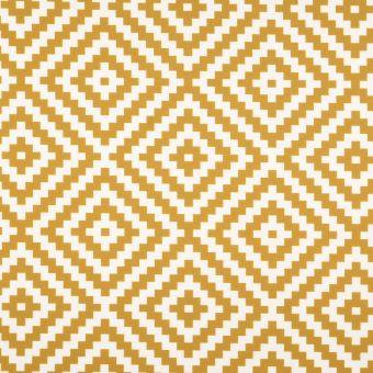 Tissu toile extérieure imprimé géométrique jaune