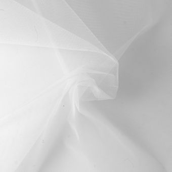 Tissu moustiquaire fin blanc de grande largeur