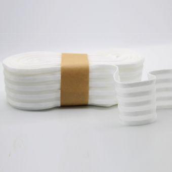 Ruban élastique rayures satiné 50mm blanc