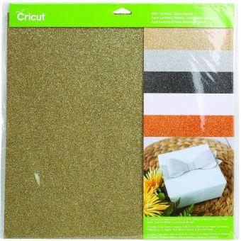 Cricut cartons pailletés 5 couleurs (x2) 30,5 x 30,5 cm