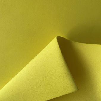 Tissu gomme caoutchouc Eva jaune au mètre