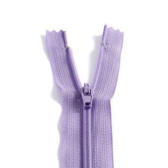 Fermeture polyester non séparable à glissière - Violet
