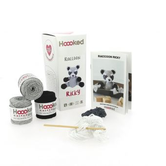 Kit crochet - Hooked raton laveur