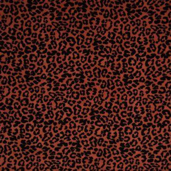 Tissu velours éponge bio léopard rouge