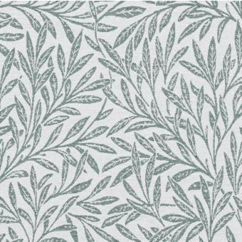 Tissu jacquard olivier blanc