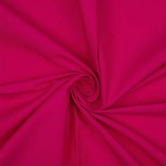 Tissu coton bio uni rose fuchsia