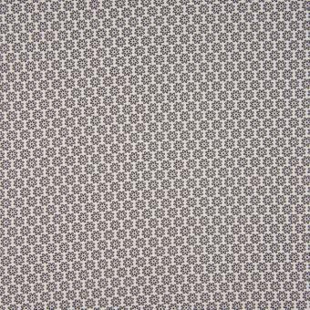 Tissu popeline coton à motifs fleurs noir