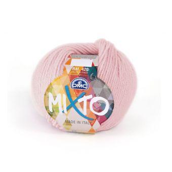 Pelote de fil à tricoter DMC Mixto rose
