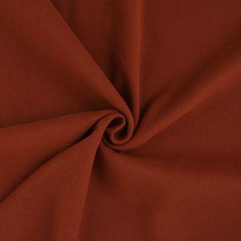 Tissu effet lainage rouge brique