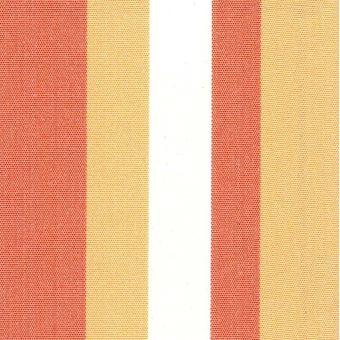 Tissu Polyskin outdoor anti-uv traitement Teflon rayé blanc orange