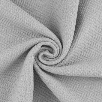 Tissu éponge nid d'abeille Marbella gris