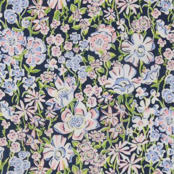 Tissu popeline coton Liberty White Garden
