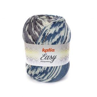 Fil à tricoter Katia Easy jacquard bleu jeans