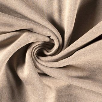 Tissu molleton sweat coton bio recyclé beige