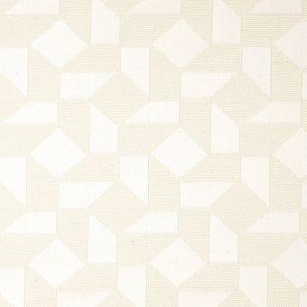 Tissu piqué géométrique écru