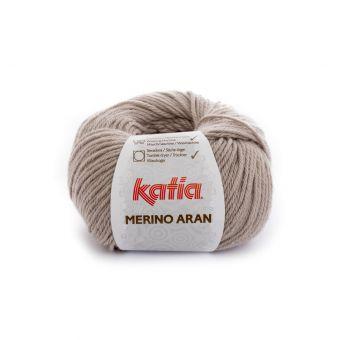 Pelote de fil à tricoter Katia Merino Aran beige