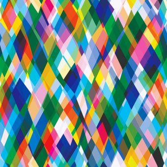 Tissu popeline de viscose Dashwood motifs losanges multicolore