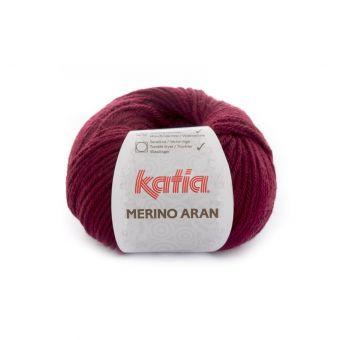 Pelote de fil à tricoter Katia Merino Aran bordeaux