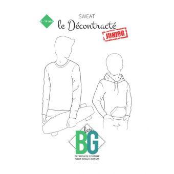 patron enfant sweat le decontracte junior 6-14 ans - LES BG