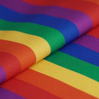 Tissu twill polyester rayures multicolores