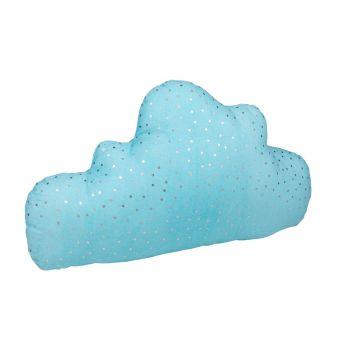Coussin forme nuage bleu