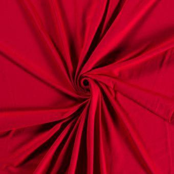 Tissu jersey bio et recyclé rouge