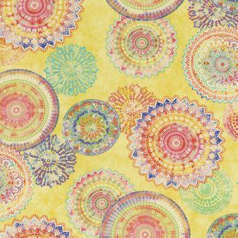 Tissu Dralon revêtement teflon motifs mandalas colorés