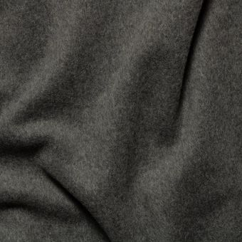 Tissu lainage manteau gris moyen uni fait en Italie