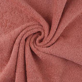 Tissu éponge Câlin terracotta