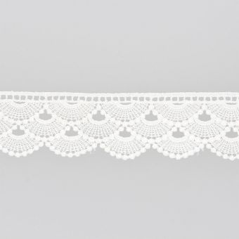 Ruban dentelle guipure cérémonie blanc 35mm
