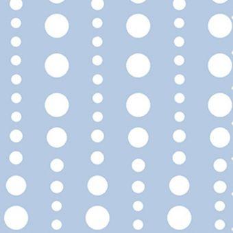 Tissu coton bleu azur pois