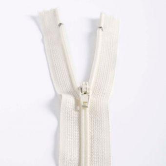 Fermeture polyester non séparable à glissière - Ecru